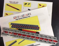 LEGO Custom Rainbow Rubber Band Loom & Hook Made From Lego Parts & Instructions