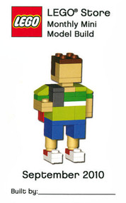LEGO Boy With Backpack Mini Build Parts & Instructions Kit