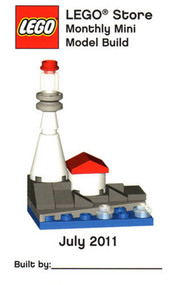 LEGO Lighthouse Mini Build Parts & Instructions Kit