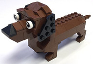 Constructibles® Dachshund Mini Model LEGO® Parts & Instructions Kit