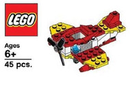 LEGO Fire Plane Parts & Instructions  2013 Fire Prevention Mini Model Build