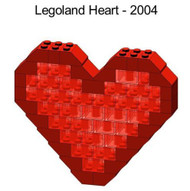 LEGO Valentines Day Mini Model - Heart Parts & Instructions - LLCA8-1