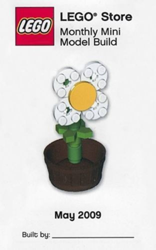 Lego White Daisy With Flower Pot Mini Build Parts Instructions Kit