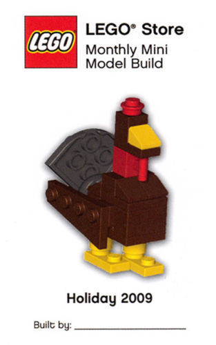 Lego Mini Model Thanksgiving Turkey Parts Instructions