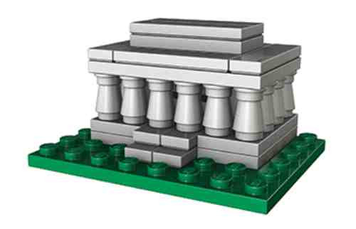 Lego Lincoln Memorial Micro Build Parts Instructions Monuments