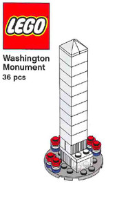 LEGO Washington Monument Mini Build Parts & Instructions - Monuments Roadshow