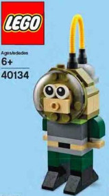 LEGO Diver Mini Build Parts & Instructions Kit