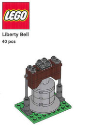 LEGO Liberty Bell Mini Build Parts & Instructions - LEGO Monuments Roadshow