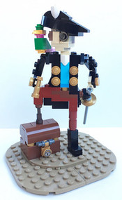 Constructibles® Pirate Captain Mini Model LEGO® Parts & Instructions Kit