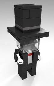 Constructibles® CubeVille Invisible Man - LEGO® Parts & Instructions Kit