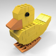 Constructibles® JKBrickworks Walking Duck - LEGO® Parts & Instructions Kit