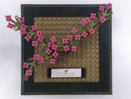 Constructibles® Cherry Blossoms Plaque - LEGO® Parts & Instructions Kit - 118pcs