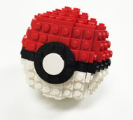 Constructibles® Large Opening Pokeball - LEGO® Parts & Instructions Kit - 192pcs