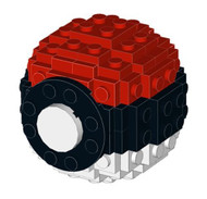 Constructibles® Small Lego Pokeball - LEGO® Parts & Instructions Kit