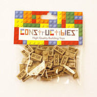 Constructibles® x50 Dark Tan 1x2 Plates 3023 - LEGO® Bulk Parts