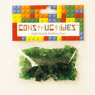 Constructibles® x100 Transparent Green 1x1 Plates 3024 - LEGO® Bulk Parts