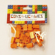 Constructibles® x25 Orange 1x2 Bricks 3004 - LEGO® Bulk Parts