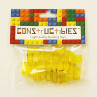 Constructibles® x25 Transparent Yellow 1x2 Bricks 3004 3065 - LEGO® Bulk Parts