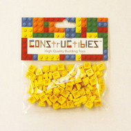 Constructibles® x100 Yellow 1x1 Plates 3024 - LEGO® Bulk Parts