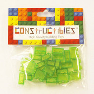 Constructibles® x25 Transparent Bright Green 1x2 Bricks 3004 3065 - LEGO® Bulk