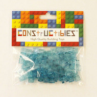 Constructibles® x100 Transparent LIght Blue 1x1 Plates 3024 - LEGO® Bulk Parts