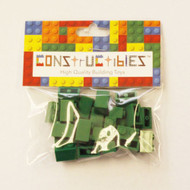 Constructibles® x25 Green 1x2 Bricks 3004 - LEGO® Bulk Parts