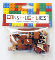 Constructibles® x25 Dark Orange 1x2 Bricks 3004 - LEGO® Bulk Parts