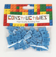 Constructibles® x50 Medium Blue 1x2 Plates 3023 - LEGO® Bulk Parts