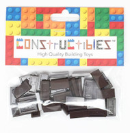 Constructibles® x50 Dark Brown 1x2 Tiles 3069 - LEGO® Bulk Parts