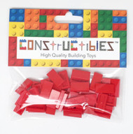 Constructibles® x50 Red 1x2 Tiles 3069 - LEGO® Bulk Parts