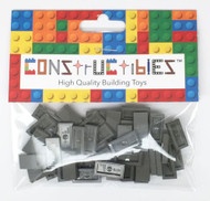 Constructibles® x50 Old Dark Gray 1x2 Tiles 3069 - LEGO® Bulk Parts
