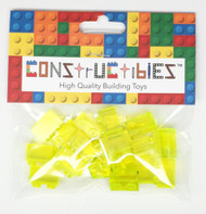 Constructibles x25 Transparent Neon Green 1x2 Bricks 3004 3065 - LEGO Bulk Parts
