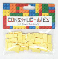 Constructibles® x50 Light Yellow 1x2 Tiles 3069 - LEGO® Bulk Parts