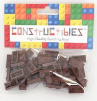 Constructibles® x50 Reddish Brown 1x2 Plates 3023 - LEGO® Bulk Parts