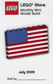 LEGO US Flag Mini Build Parts & Instructions Kit