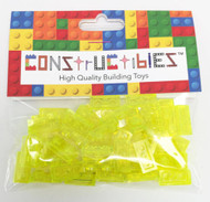 Constructibles® x50 Transparent Neon Green 1x2 Plates 3023 - LEGO® Bulk Parts