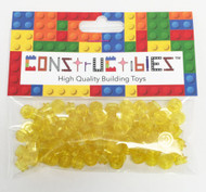 Constructibles® x100 Transparent Yellow 1x1 Round Plates 3024 - LEGO® Bulk Parts