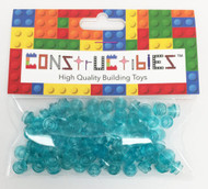 Constructibles® x100 Transparent Light Blue 1x1 Round Plates 3024 - LEGO® Bulk