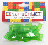 Constructibles® x50 Transparent Bright Green 1x2 Tiles 3069 - LEGO® Bulk Parts