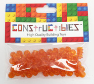 Constructibles® x100 Transparent Orange 1x1 Round Plates 3024 - LEGO® Bulk Parts