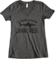 I Survived Shark Week Great White - Charcoal