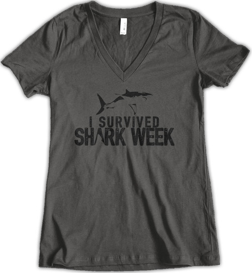 Survived Shark Week - Charcoal