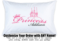 Customizable PRINCESS Pillow Case Please Specify Name Desired In The Comments At Checkout
