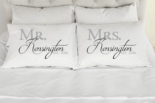 Mr. Mrs. Kensington Style Please Make Sure To Add The Custom Names & Date Desired In The Comments At Checkout