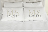 Mrs. Mrs. Baldwin Style Please Make Sure To Add The Custom Names & Date Desired In The Comments At Checkout