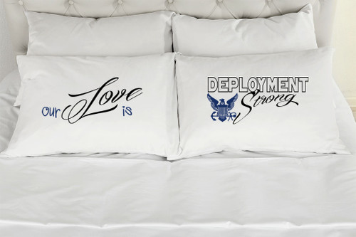 Our Love Is Deployment Strong - Navy - Pink