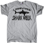 I Survived Shark Week - White Shark  Grey