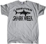 I Survived Shark Week - White Shark  Grey