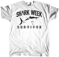 Shark Week Survivor Logo White