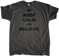 Keep Calm Believe Charcoal